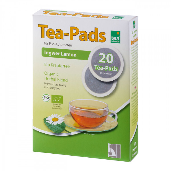 "Tea-Pad Bio ""Ingwer-Lemon"""